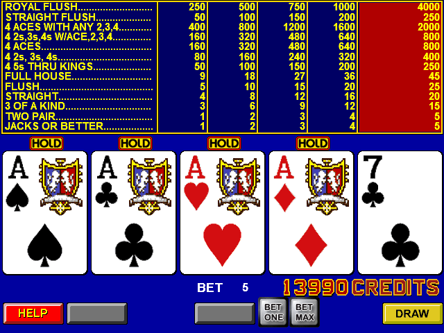 video poker android